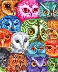 Great Horned Owl Painting C Kestrel Creative Pinteres Owl Coloring Ideas