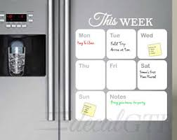 kitchen white board dry erase calendar decal white board calendar weekly