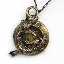 antique necklace pendant images Steampunk sea serpent locket pendant necklace antique jpg