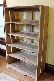 rustic wood bookshelves okebuy