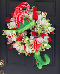 2016 elf with striped hat u0026 legs wreath tutorial trendy tree