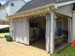 curtains installing mosquito curtains on your pergola for