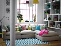 Small Lounge Sofa by Corner Sofas For Small Rooms Love The Pillows And The Pink