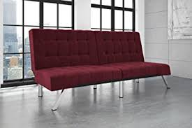 Modern Convertible Furniture by Amazon Com Dhp Emily Futon Sofa Bed Modern Convertible Couch
