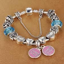 s day charm bracelet spinner 2017 fashion silver sweet charm bracelet pandora