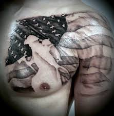 black and white american flag tattoos for men pictures to pin on