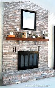 Fireplace Brick Stain by Whitewashed Brick Fireplace