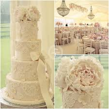 wedding cakes peonies and lace wedding cake 2104894 weddbook
