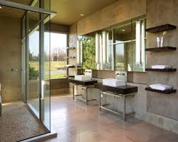 river rock bathroom ideas river rock shower wall home design ideas pictures remodel and