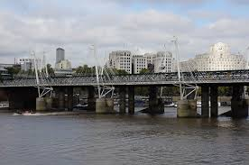 hungerford bridge hungerford bridge lambeth city of westminster 1864 structurae
