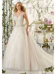 Ivory Wedding Dresses Mori Lee 2818 Crystal Beaded Tulle Gown Ivory Silver