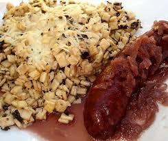 cuisiner les crozets de savoie saucisses de savoie au vin et gratinée de crozets