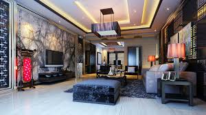architecture luxurious living room with ornaments 3d