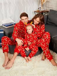 rudolph onesie christmas matching family pajama red dad in