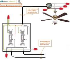 wiring a ceiling fan with light two switch integralbook com