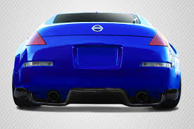 nissan 350z grand touring 03 08 fits nissan 350z ts 1 carbon creations rear bumper lip body