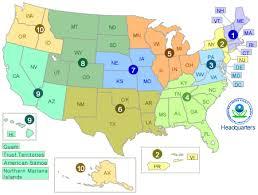 washington dc region map visiting a regional office about epa us epa