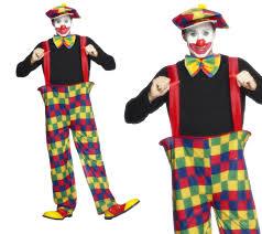 Mens Clown Halloween Costumes Mens Clown Fancy Dress Costume Kids Entertainer Circus