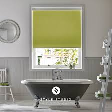 roller blind by eclipse atlantex green fabric blinds