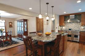 kitchen pass through simple tan wooden flooring sleek wooden
