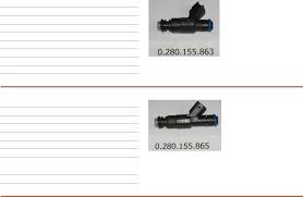 list fuel injectors documents mfg name bosch