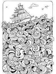 vector coloring book summers sea knutselen