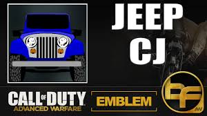 call of duty jeep emblem cod advanced warfare emblem tutorial 83 jeep cj youtube