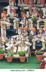 flowerpot garden ornaments for sale at weymouth in may stock