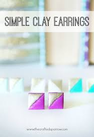 simple earrings simple clay earrings