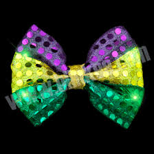 mardi gras bow tie led mardi gras bow tie magic matt s brilliant blinkys