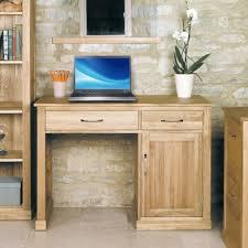 Pedestal Computer Desk Buy Baumhaus Mobel Oak Single Pedestal Computer Desk Cfs Uk