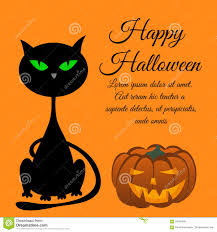 halloween cats background halloween greeting card stock vector image 59186030