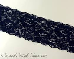 navy lace ribbon elastic lace ribbon 2 1 2 wide navy blue ten yard roll may