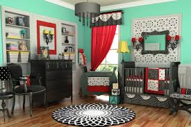 Black And White And Red Bedroom Bedroom Green Painted Baby Bedroom With Black White And Red