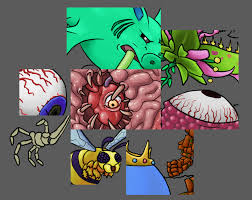 working on drawing all bosses and hit terrible demotivation terraria
