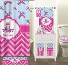 Kids Bathroom Collections Airplane Theme For Girls Bathroom Accessories Set Personalized