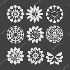 simple geometric ornaments vector set of circular patterns