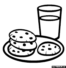Milk And Cookies Online Coloring Page Coloring Cookies