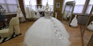 coming to america wedding dress 80 pound wedding dresses bedazzled in jewels this designer