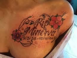 rip minerva memorial flowers chest tattooshunt com