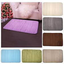 Bathroom Memory Foam Rugs 1pcs Memory Foam Bath Mat Bathroom Horizontal Stripes Rug Non Slip