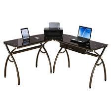 L Shaped Metal Desk L Shaped Curved Steel Desk In Bronze Smart Furniture