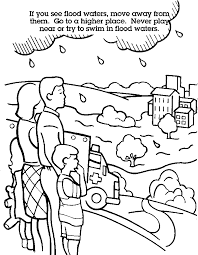flood coloring pages coloring pages