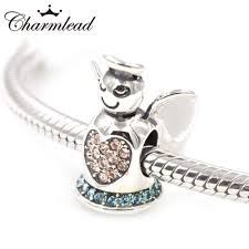 silver bead bracelet diy images Charmlead 925 sterling silver beads doll angel charm with bling jpg