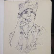 314 smoking cowboy photo credit mischa fisher cowboy sketch