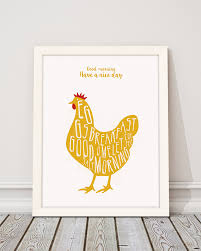 wall art decor picture chicken printable art ilustration
