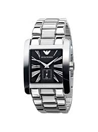 armani steel bracelet images Emporio armani gents stainless steel bracelet watch black dial ar0181 jpg