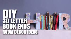 3d letter book ends room decor diy mad stuff with rob youtube