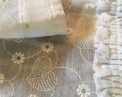 Vintage Eyelet Curtains Vintage Curtains Window Treatments Etsy