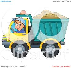 clipart of a cartoon caucasian male construction worker moving a
